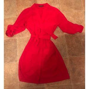 Express Red Tie Dress